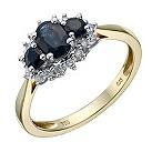 18ct gold sapphire & diamond ring - Product number 1712241