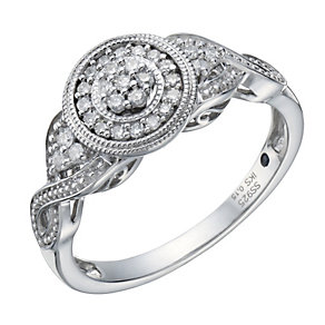 Sterling silver 15 point diamond ring - Product number 1715631