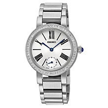 Seiko Ladies' Crystal Set Stainless Steel Bracelet Watch - Product number 1717146