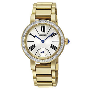 Seiko Ladies' Crystal Set Gold-Plated Bracelet Watch - Product number 1717154