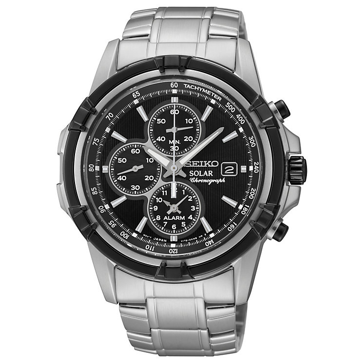 Seiko Solar Men's Chronograph Stainless Steel Bracelet Watch - Product number 1717243