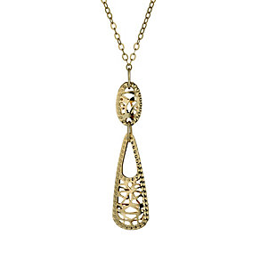 9ct gold cut out pyramid drop pendant - Product number 1717332