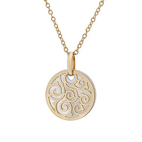 9ct gold mother of pearl swirl mini talisman pendant - Product number 1717340