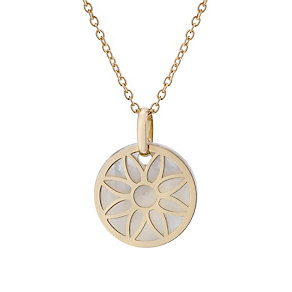 9ct gold mother of pearl flower mini talisman pendant - Product number 1717359