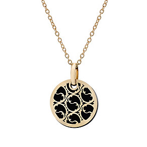 9ct gold onyx swirl mini talisman pendant - Product number 1717367