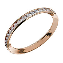 9ct rose gold cubic zirconia channel set skinny ring - Product number 1717510