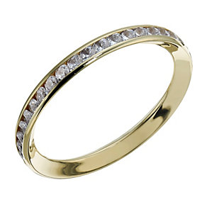 9ct gold cubic zirconia channel set skinny ring - Product number 1717782