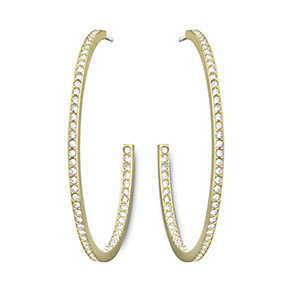 Swarovski Vi gold-plated crystal hoop earrings - Product number 1722638