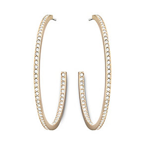 Swarovski Vi rose gold-plated crystal hoop earrings - Product number 1722662