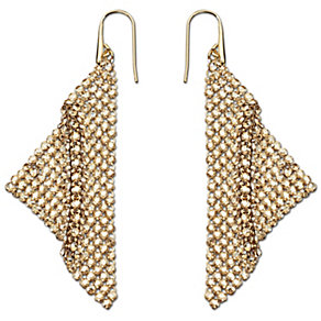 Swarovski Fit gold-plated crystal drop earrings - Product number 1722743