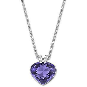 Swarovski Oceanic rhodium-plated tanzanite crystal pendant - Product number 1722816