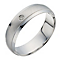 9ct white gold diamond matte & polished 6mm wedding ring - Product number 1728253