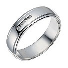 Sterling silver diamond set 5 stone ring - Product number 1730827
