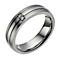 Titanium matt & polished diamond set ring - Product number 1732110