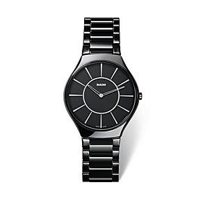 Rado True Thinline men's black ceramic bracelet watch - Product number 1735012