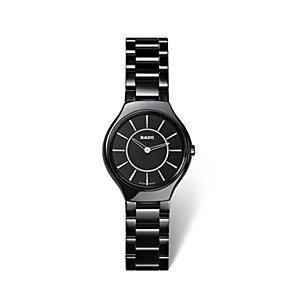 Rado True Thinline ladies' black ceramic bracelet watch - Product number 1735020