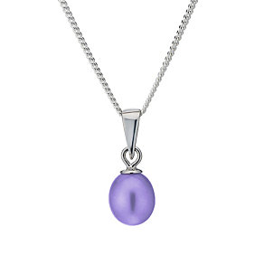 Sterling Silver Purple Freshwater Pearl Pendant - Product number 1735640