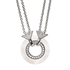 Emporio Armani sterling silver stone mother of pearl pendant - Product number 1735861