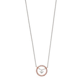 Emporio Armani rose gold-plated pave stone set necklace - Product number 1735926