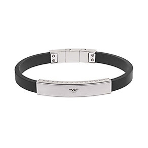 Emporio Armani men's stainless steel black silicone bracelet - Product number 1735969