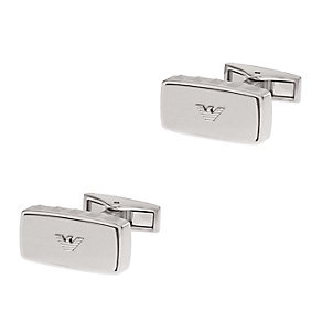 Emporio Armani stainless steel rectangular logo cufflinks - Product number 1735985
