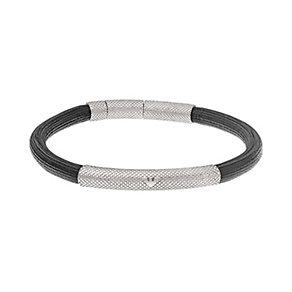 Emporio Armani men's stainless steel slim logo bracelet - Product number 1736000