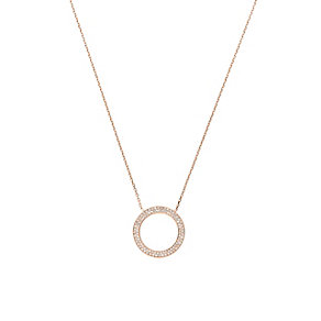 Michael Kors rose gold-plated stone set circle necklace - Product number 1736035