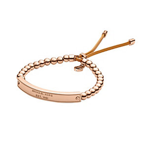 Michael Kors rose gold-plated bead stretch ID bracelet - Product number 1736078