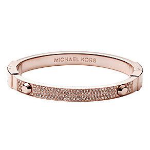 Michael Kors Rose Gold Tone Pave Stud Bangle - Product number 1736086