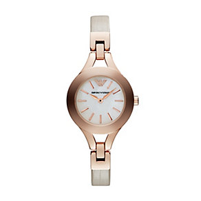 Emporio Armani ladies' nude leather strap watch - Product number 1736558