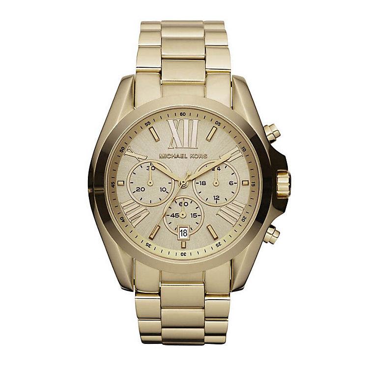 Michael Kors Ladies' Chronograph Gold Tone Bracelet Watch - Product number 1736582
