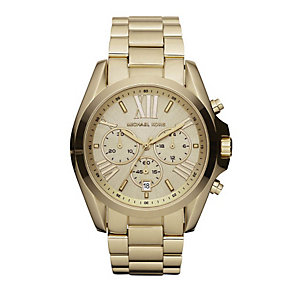 Michael Kors ladies' chronograph gold-plated bracelet watch - Product number 1736582