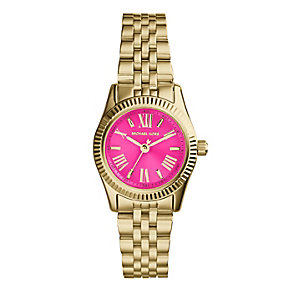 Michael Kors ladies' mini gold-plated bracelet watch - Product number 1736590