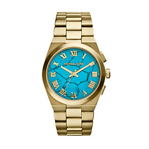 Michael Kors Channing ladies' gold-plated bracelet watch - Product number 1736612