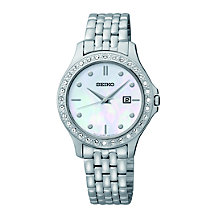 Seiko Ladies' Stone Set Stainless Steel Bracelet Watch - Product number 1736809
