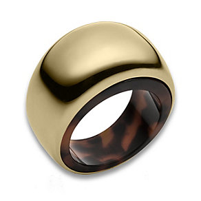 Michael Kors gold-plated & tortoiseshell effect ring - Product number 1736884