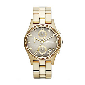 Marc Jacobs ladies' grey dial gold-plated bracelet watch - Product number 1736957