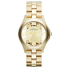 Marc Jacobs Ladies' Skeleton Dial Gold Tone Bracelet Watch - Product number 1736981