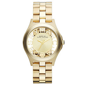 Marc Jacobs ladies' skeleton dial gold-plated bracelet watch - Product number 1736981