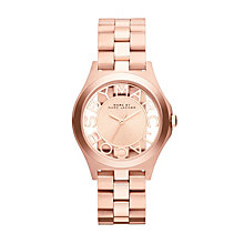 Marc Jacobs Ladies' Rose Gold Tone Skeleton Bracelet Watch - Product number 1737007