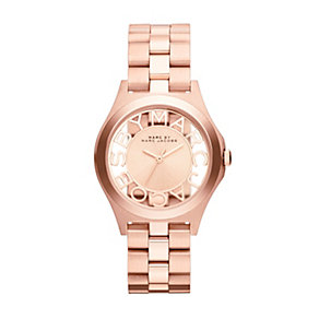 Marc Jacobs ladies' rose gold-plated skeleton bracelet watch - Product number 1737007