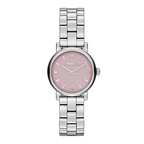 Marc Jacobs ladies' pink dial stainless steel bracelet watch - Product number 1737066