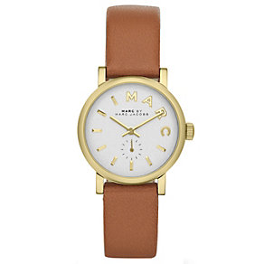 Marc Jacobs ladies' white dial brown leather strap watch - Product number 1737163