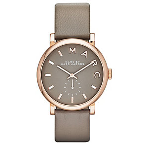 Marc Jacobs ladies' grey dial grey leather strap watch - Product number 1737171