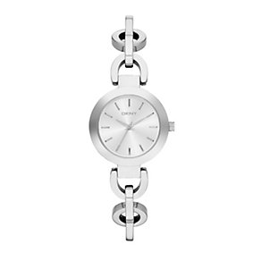 DKNY ladies' white dial stainless steel chain bracelet watch - Product number 1737651