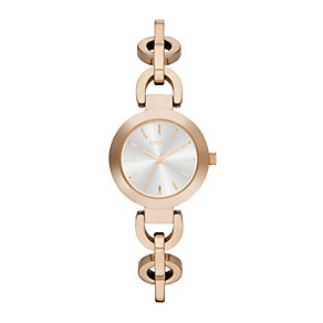 DKNY ladies' rose gold-plated chain bracelet watch - Product number 1737686