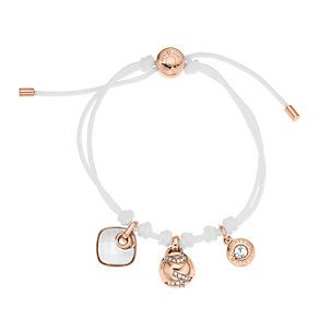 DKNY rose gold-plated & white cord bracelet - Product number 1737902