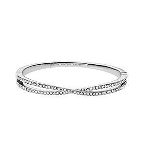 DKNY Stainless Steel Crystal Cross Bangle - Product number 1737929
