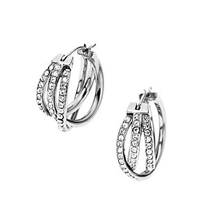 DKNY Stainless Steel Stone Set Woven Loop Earrings - Product number 1737937