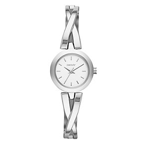 Dkny Ladies' Stainless Steel Crossover Bangle Watch - Product number 1738046